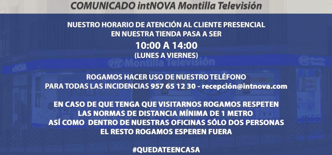 COMUNIDADO intNOVA Montilla Televisión 19-03-20