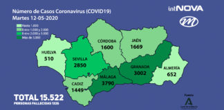 MAPA ANDALUCÍA CORONAVIRUS 12-05-20