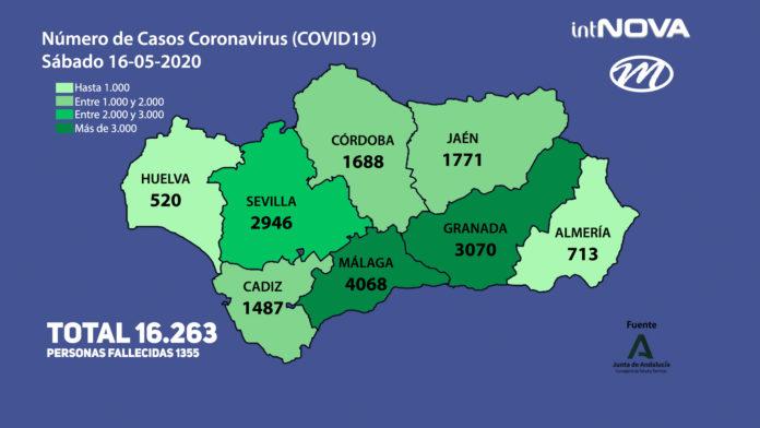 MAPA ANDALUCÍA CORONAVIRUS 16-05-20