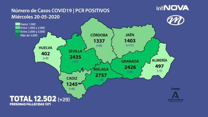 MAPA ANDALUCÍA CORONAVIRUS 20-05-20