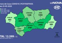 MAPA ANDALUCÍA CORONAVIRUS 25-05-20