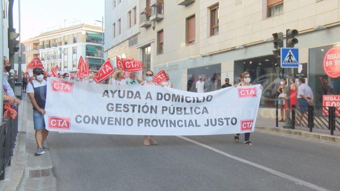 MANIFESTACIÓN TRABAJADORAS SINDICADAS MONSECOR